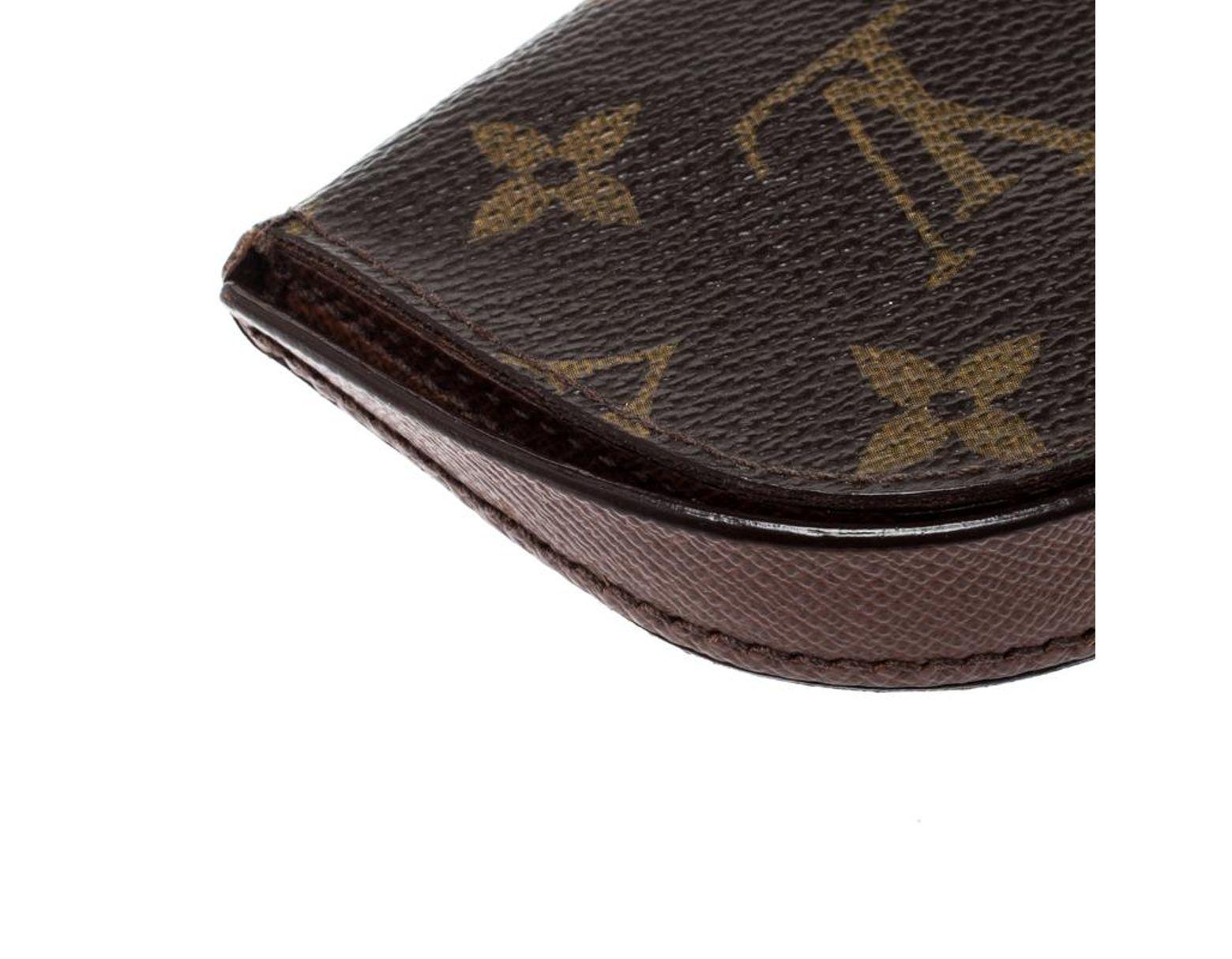 c346df83535 Louis Vuitton Monogram Canvas Porte Monnaie Gousset Coin Purse in ...