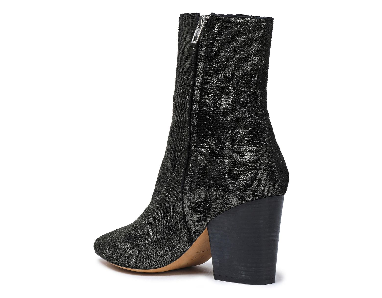 ccee5f63a1c Women's Ladilor Sliced Metallic Suede Ankle Boots Black