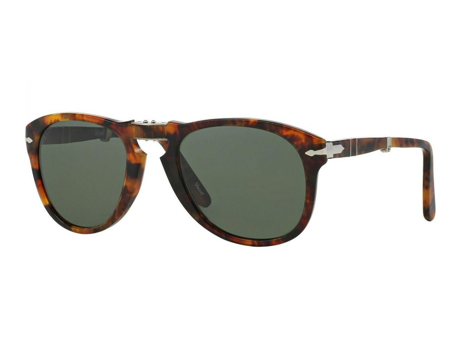 4f8a7d4cfc6f Persol Icons Po0714 108/58 Caffe With Crystal Green Lenses Sunglasses in  Green for Men - Lyst