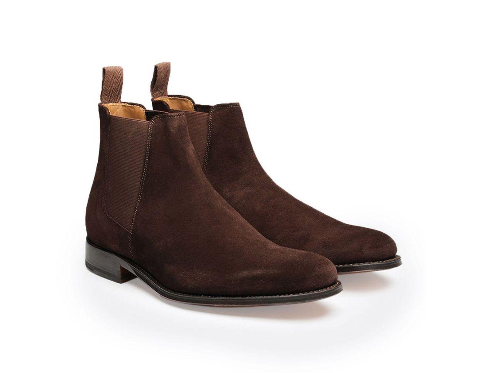 9b934e9e5ac Men's Chocolate Brown Declan Suede Chelsea Boots