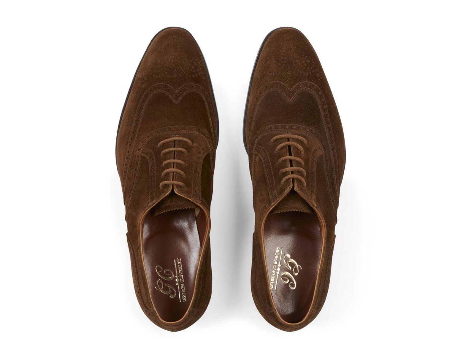 b17fc850818cb George Cleverley Tobacco Suede Reuben Oxford Brogues in Brown for Men - Lyst
