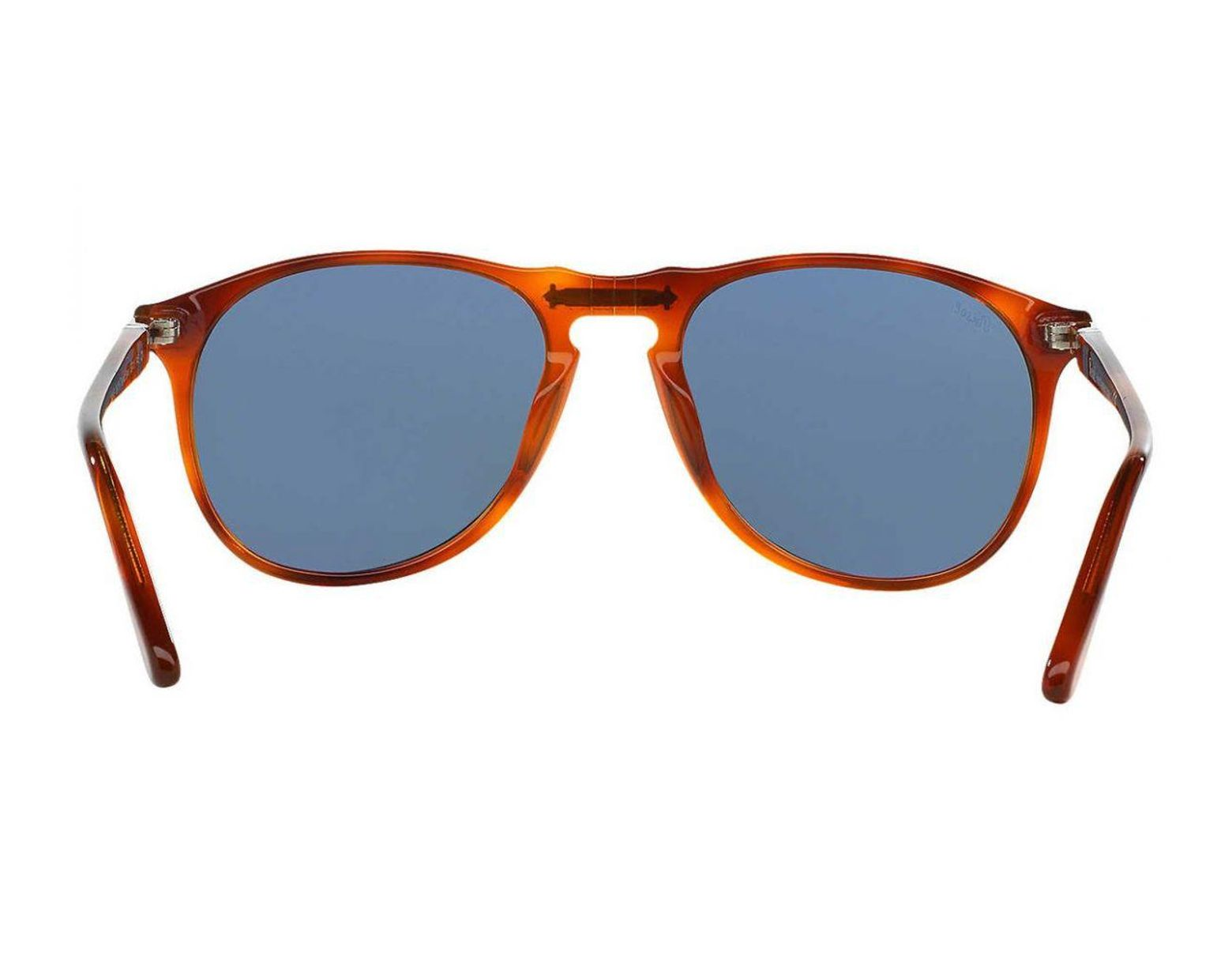 9bce705f03192 Persol Vintage Celebration Special Edition Terra Di Sienna Po9649s 96 56  Havana With Blue Lenses Sunglasses in Blue for Men - Lyst