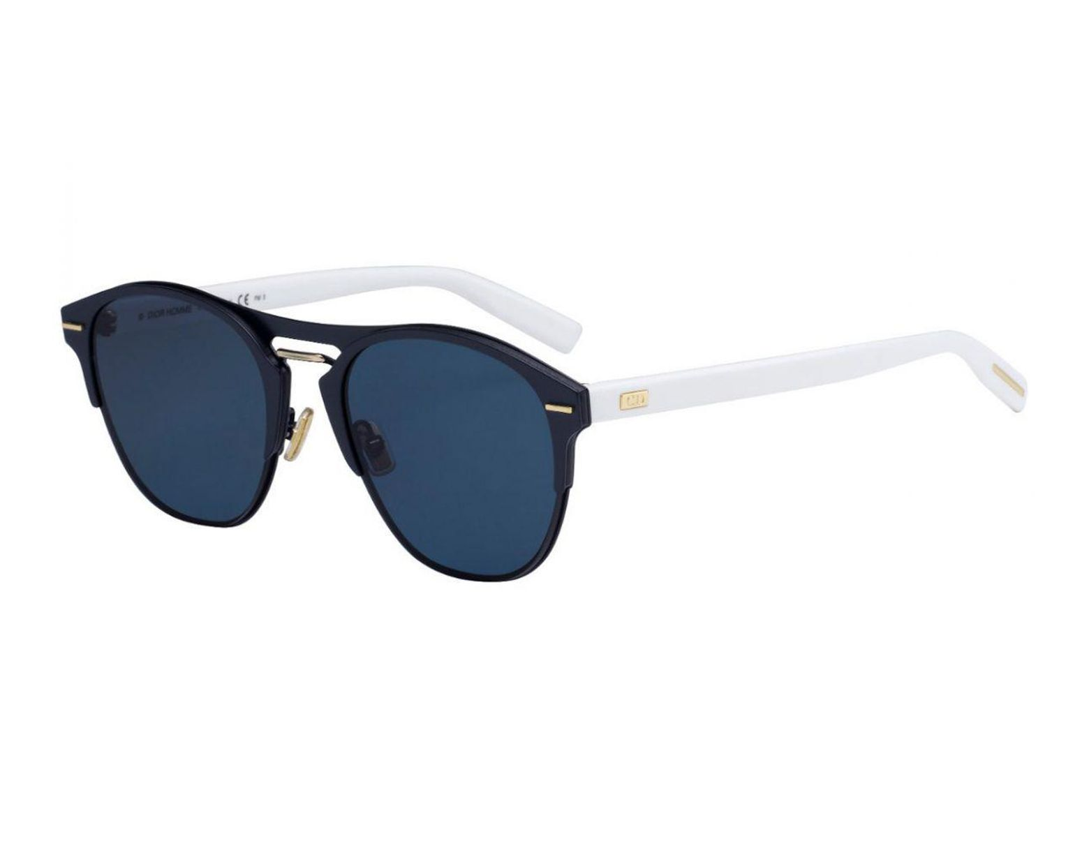 41ef63c76 Dior Homme Dior Chrono Black And White Frames With Black Lenses Sunglasses  Ze3/a9-65 in Black for Men - Lyst