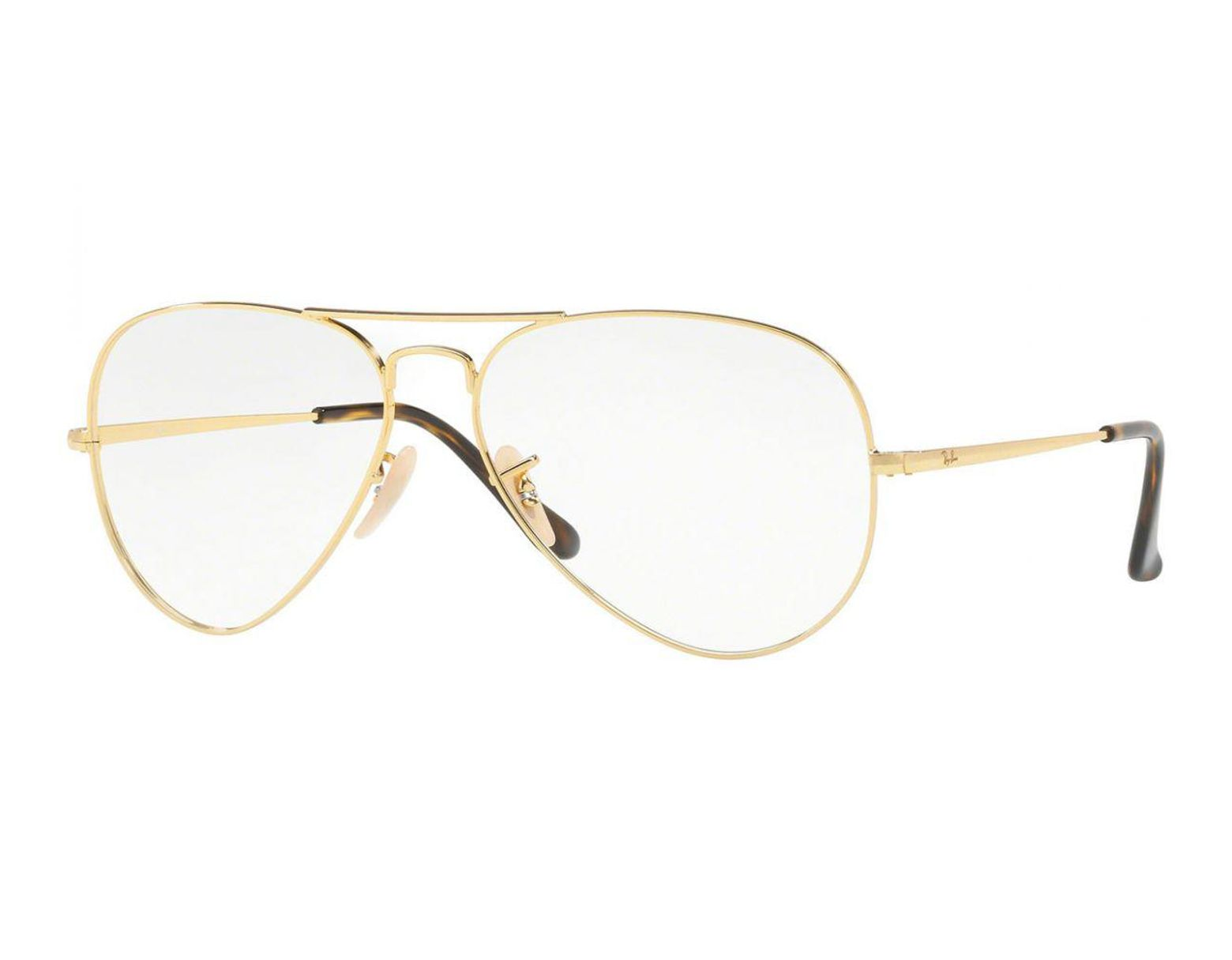 9ab69e48812e Ray-Ban Aviator Rx6489-2500 Gold Frames With Clear Lenses Eyewear in  Metallic for Men - Lyst