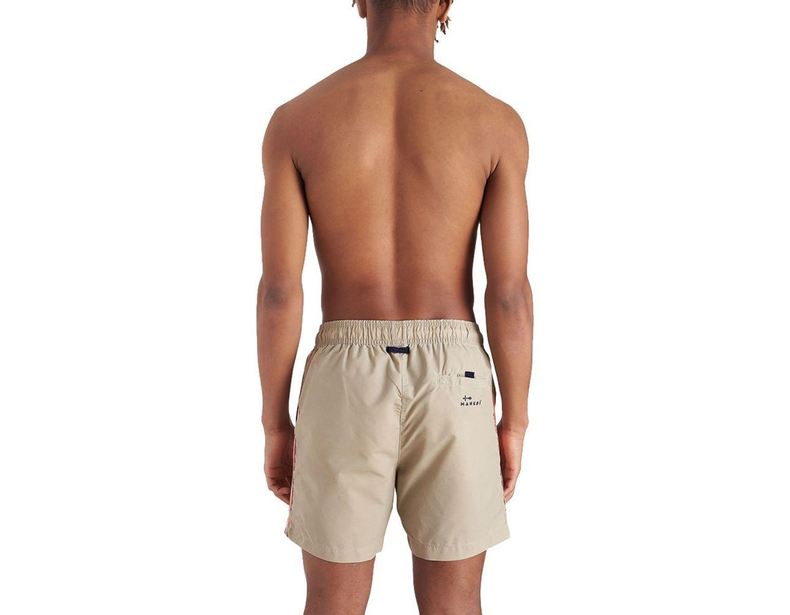 5fe319f6b0 Manebí Beige Striped Hamptons Swim Shorts in Natural for Men - Lyst