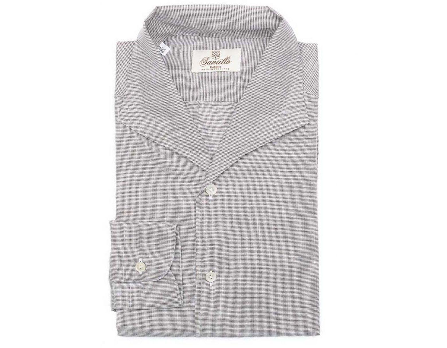 f26fd4fd2 Santillo 1970 Grey Italian Dandy Houndstooth Shirt in Gray for Men - Lyst