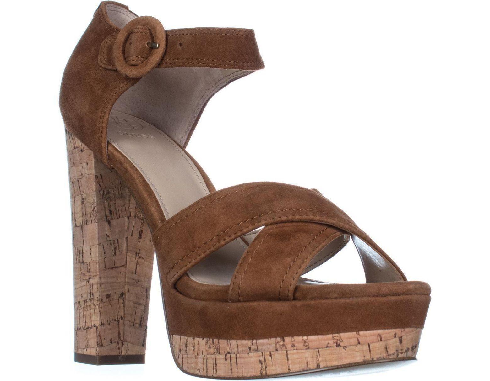 08b6ecb841eaa Women's Natural Parris Platform Ankle Strap Sandals