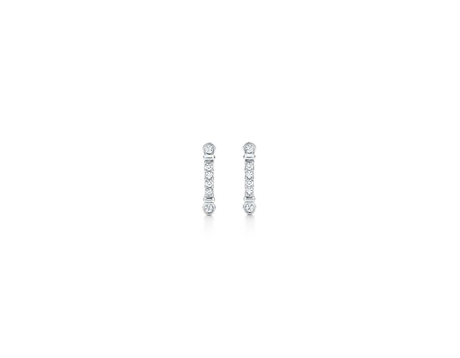 bb9bb7f8f36a5 Tiffany & Co. Tiffany Fleur De Lis Key Bar Earrings In Platinum With ...