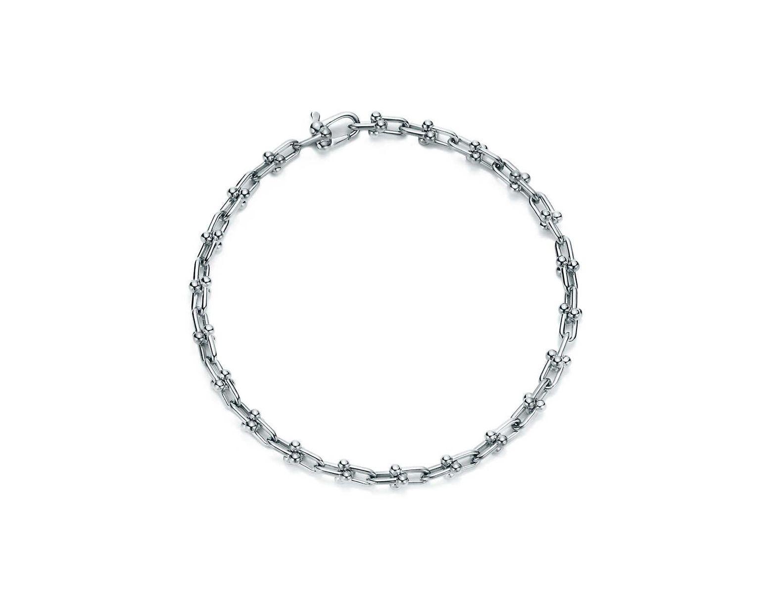 e7da2c6ba18 Tiffany & Co. Tiffany City Hardwear Micro Link Bracelet In Sterling Silver,  Medium in Metallic - Lyst