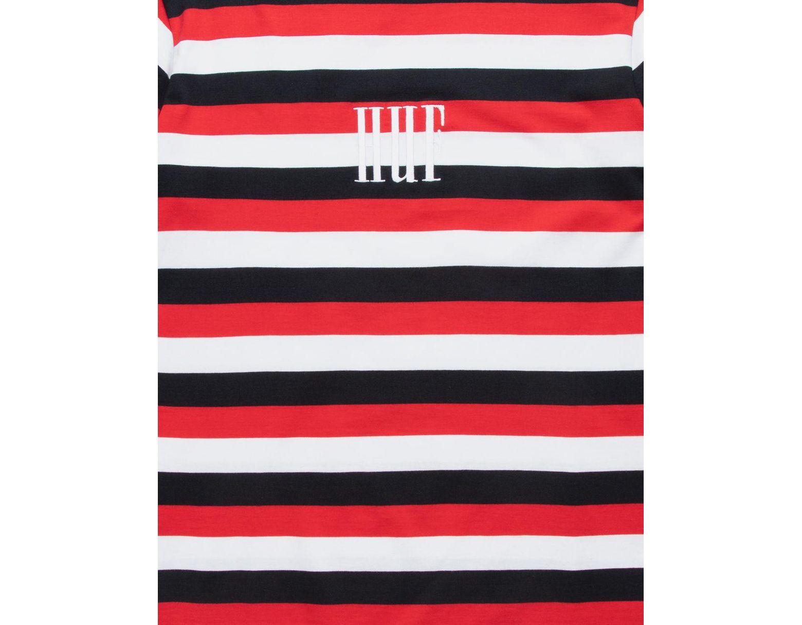 0cb219a2b9d Red Marka Bold Stripe Mens T-shirt