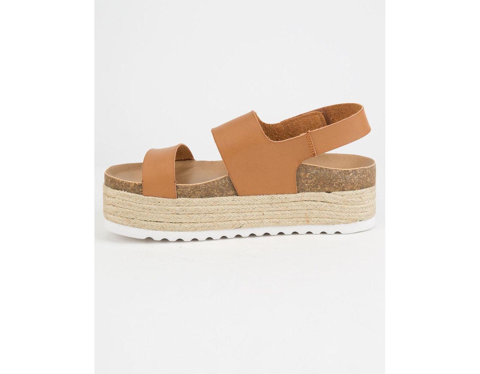 cda9bb6be Dirty Laundry Peyton Espadrille Cognac Womens Velcro Platform Sandals in  Brown - Save 61% - Lyst