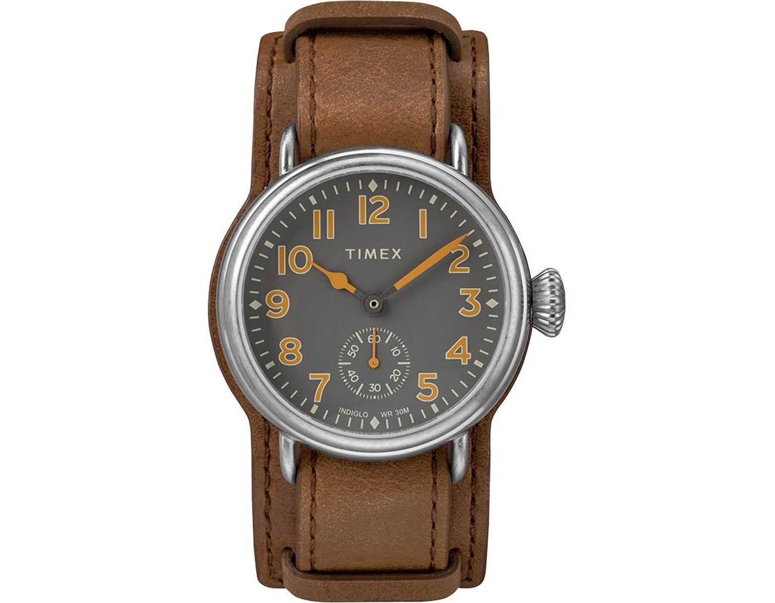 8b4842fb1 Timex Watch Welton 38mm Leather Strap Stainless Steel/brown/gray in Brown  for Men - Save 20% - Lyst