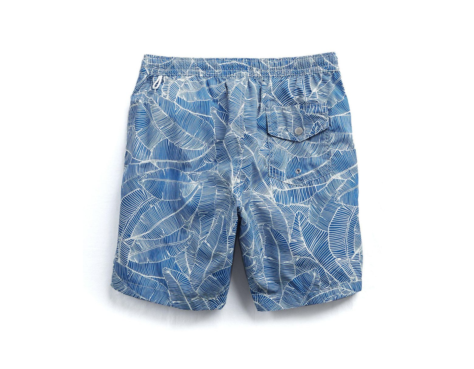 Men's White Kuta Swimwear Palms Print