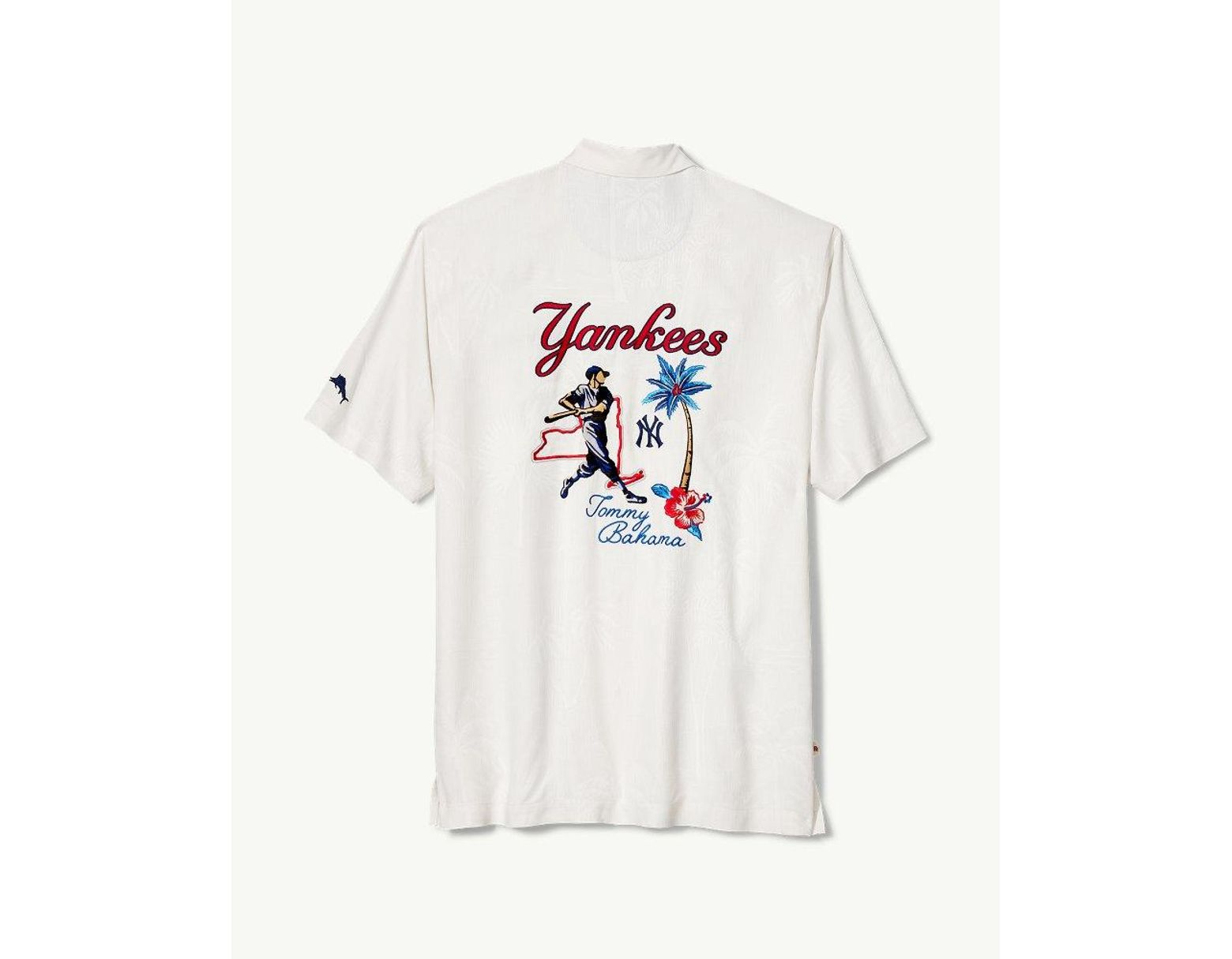 b5157742 Tommy Bahama Mlb® Yankees® Bases Loaded Camp Shirt in White for Men - Lyst
