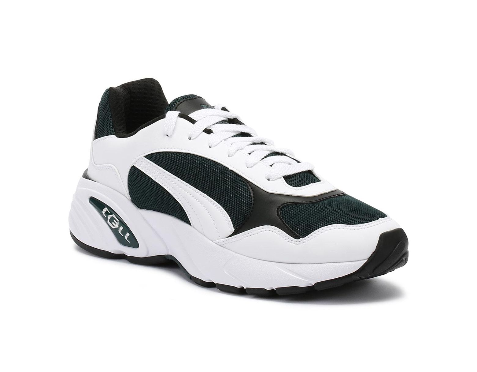 best loved 70012 cdafa PUMA Cell Viper Mens White   Pine Green Trainers in White for Men - Lyst