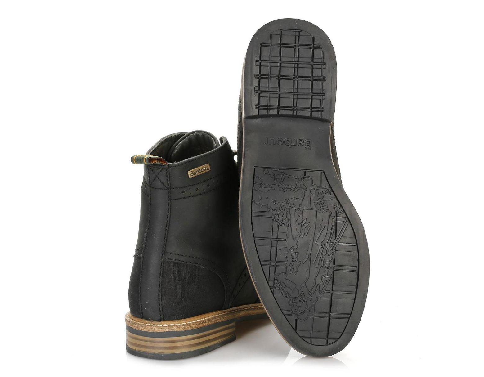 02c28f9489a Mens Black Belsay Brogue Boots