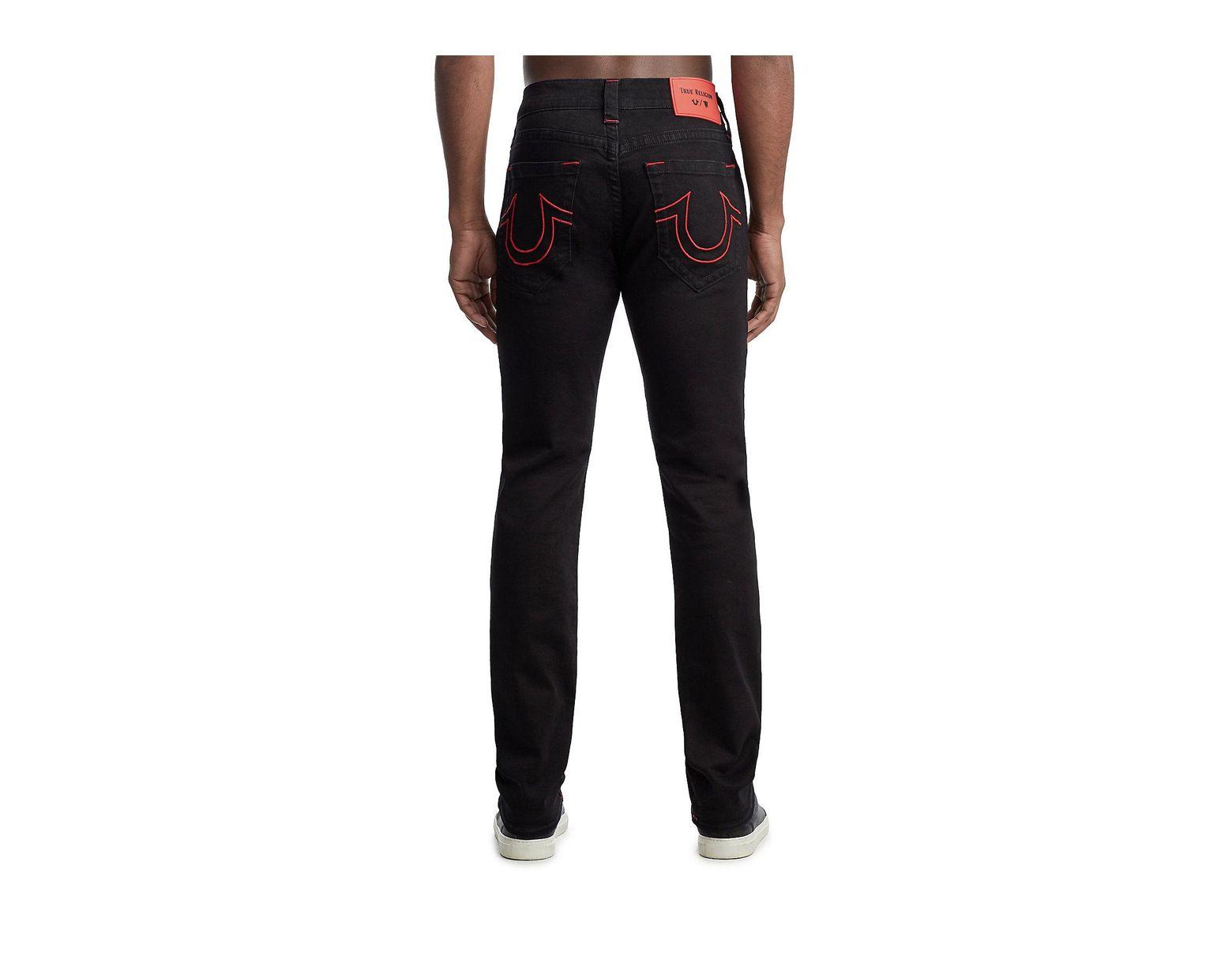 b252961b0 True Religion Tr X Manchester United Rocco Skinny Jean in Black for Men -  Lyst