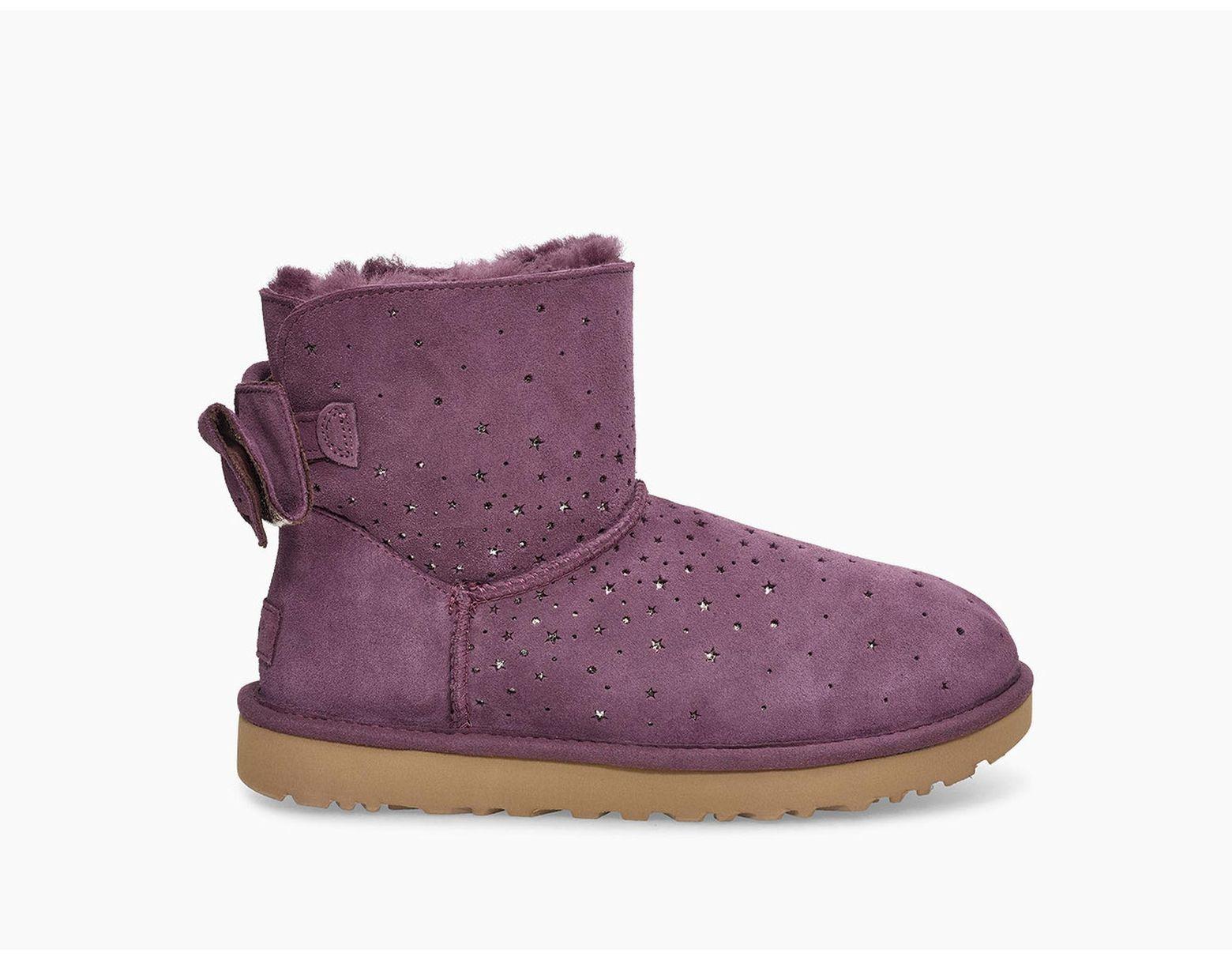 0773e010981 Women's Purple Classic Mini Stargirl Bow Boot Classic Mini Stargirl Bow Boot