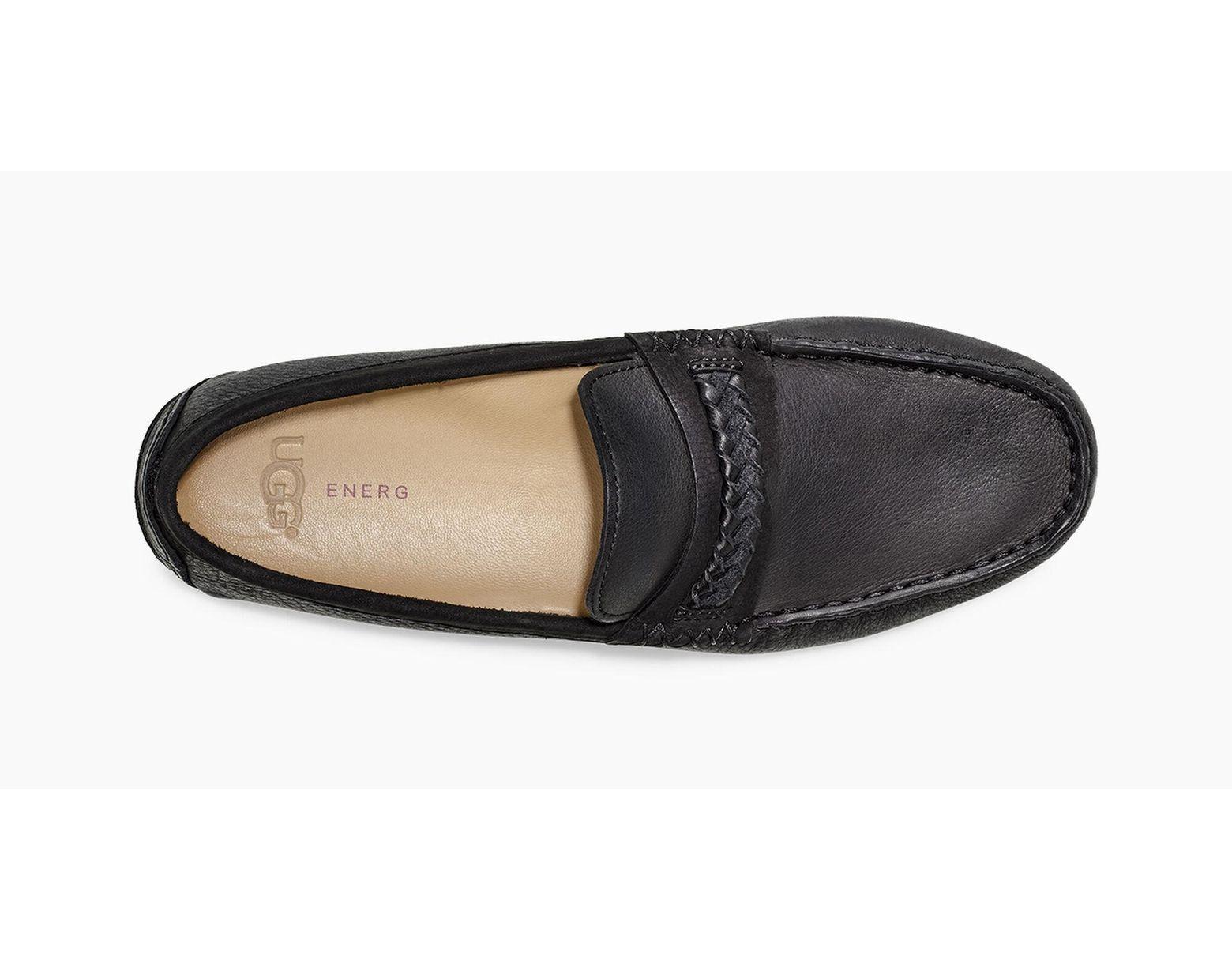 6986a8321bc UGG Henrick Leather Braid Henrick Leather Braid in Black for Men - Lyst