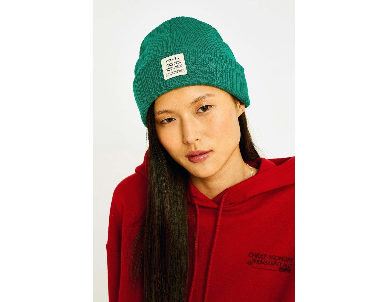 d24378d735fd9 Urban Outfitters Uo Utility Ribbed Beanie in Green - Lyst