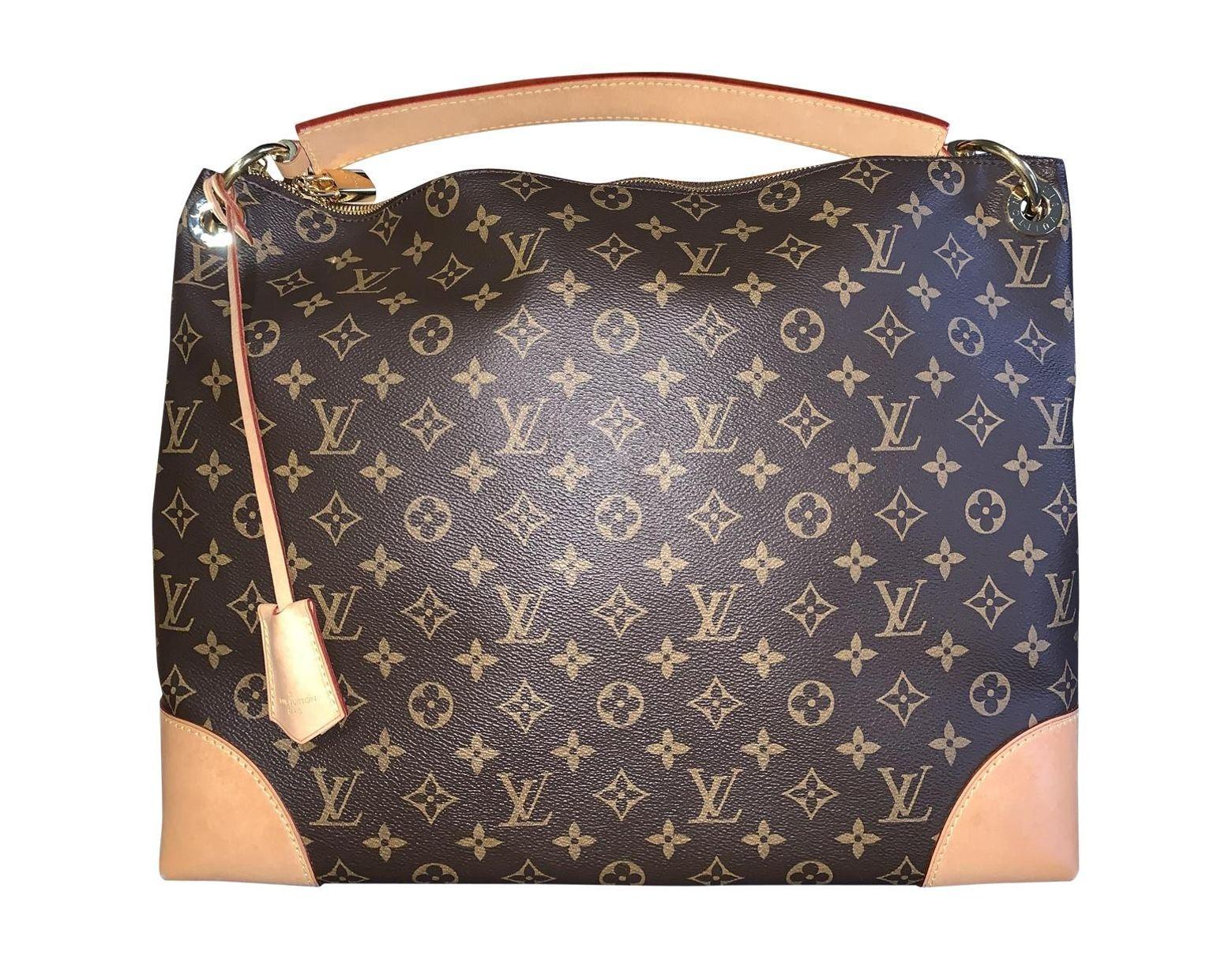 af686feb87 Sac à main Berri en toile Louis Vuitton en coloris Marron - Lyst