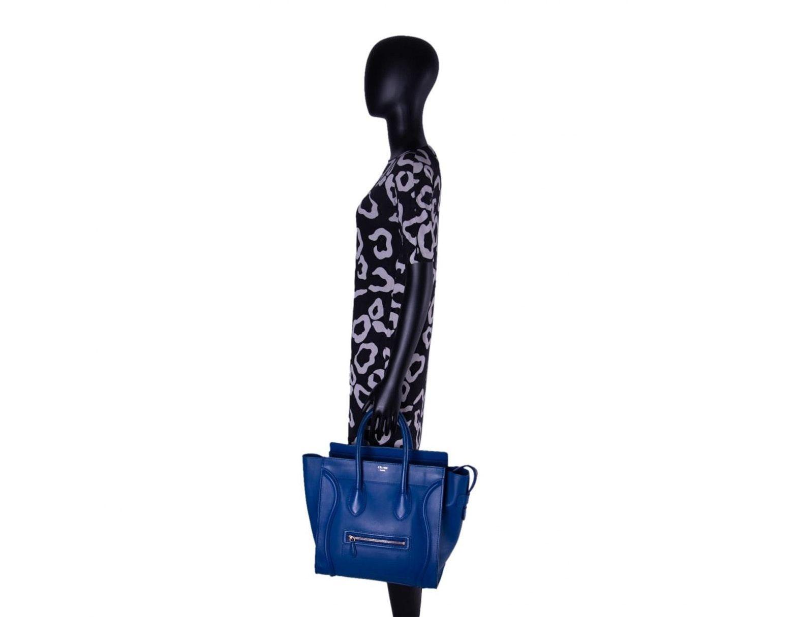 2De Luggage En À Lyst Sacs Coloris Bleu Réduction Main Céline DE9IYWH2