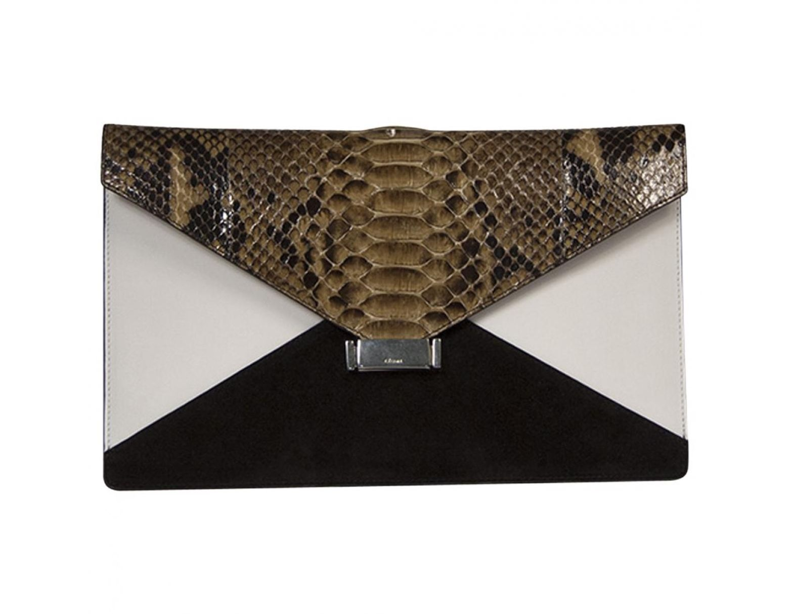 30cf6cda93 Pochette Diamond Clutch en python Céline - Lyst