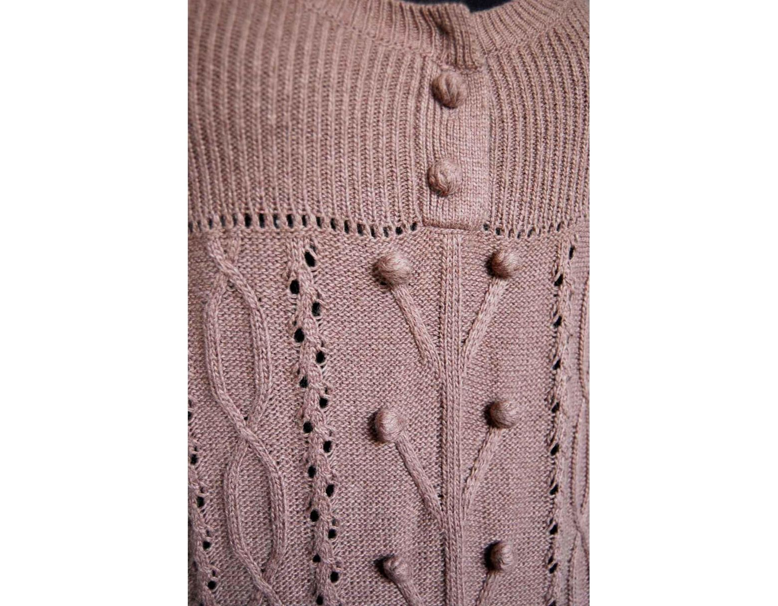Pull Femme Robe Robe Coton Pull Marron TF1JK3lc