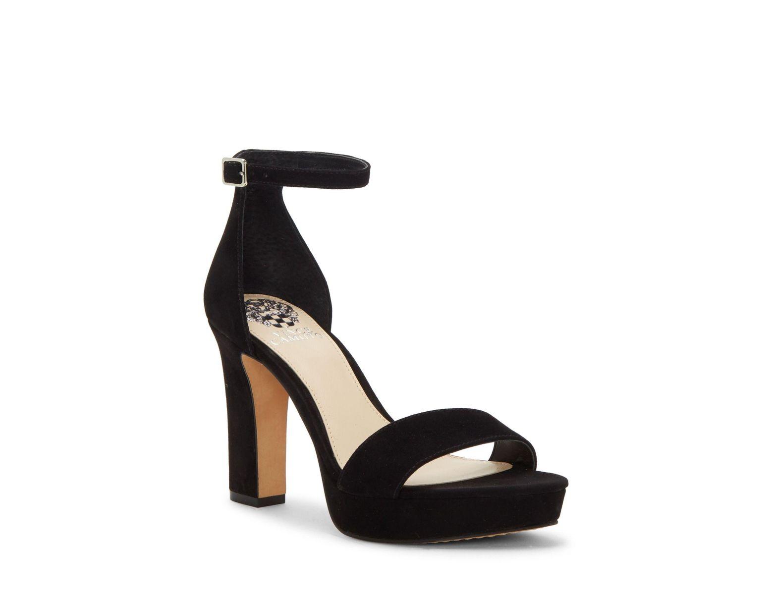 cfb47674376d Vince Camuto Sathina – Platform Sandal in Black - Lyst