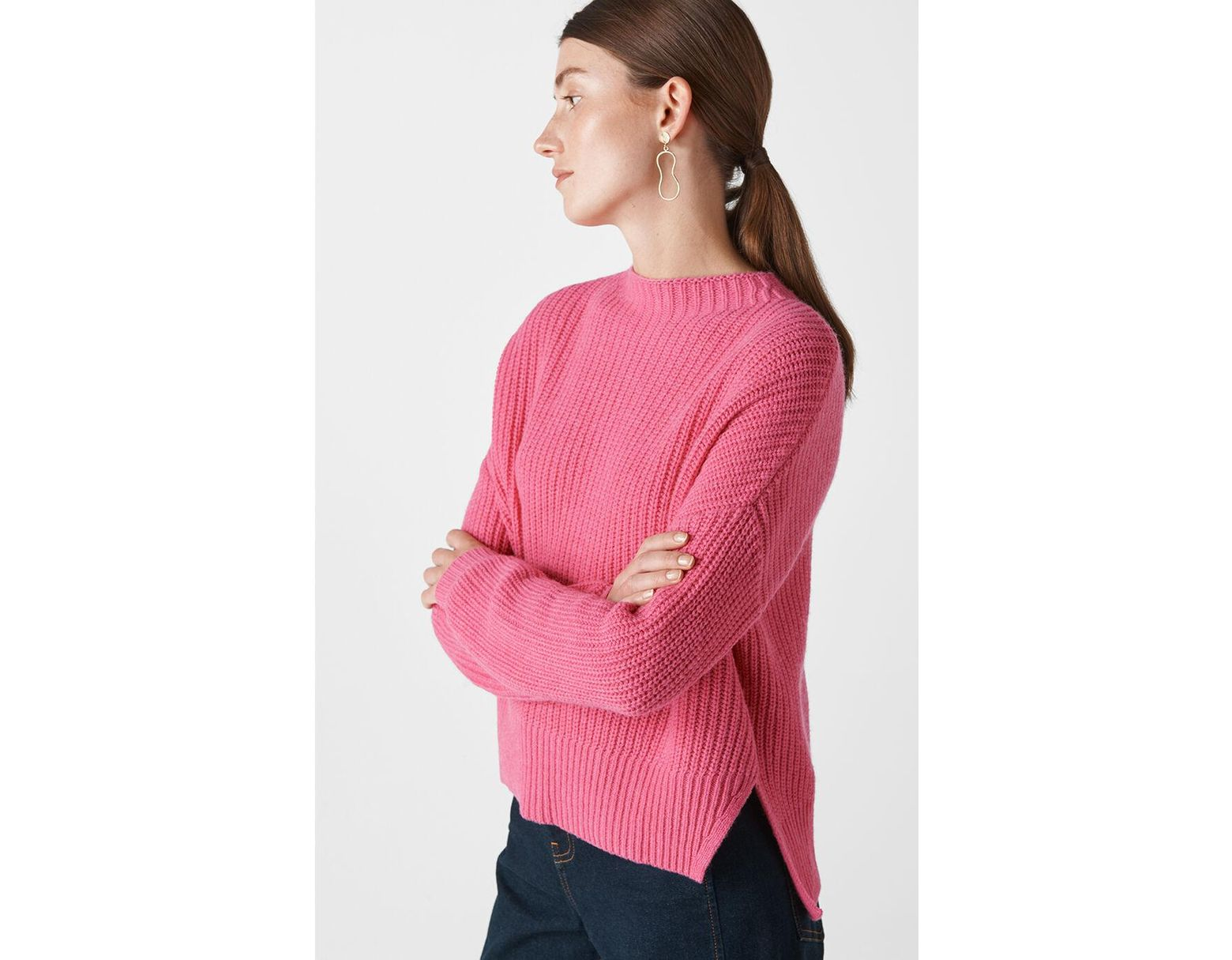 cd57578c5c4 Whistles Ribbed Oversized Sweater in Pink - Save 58% - Lyst