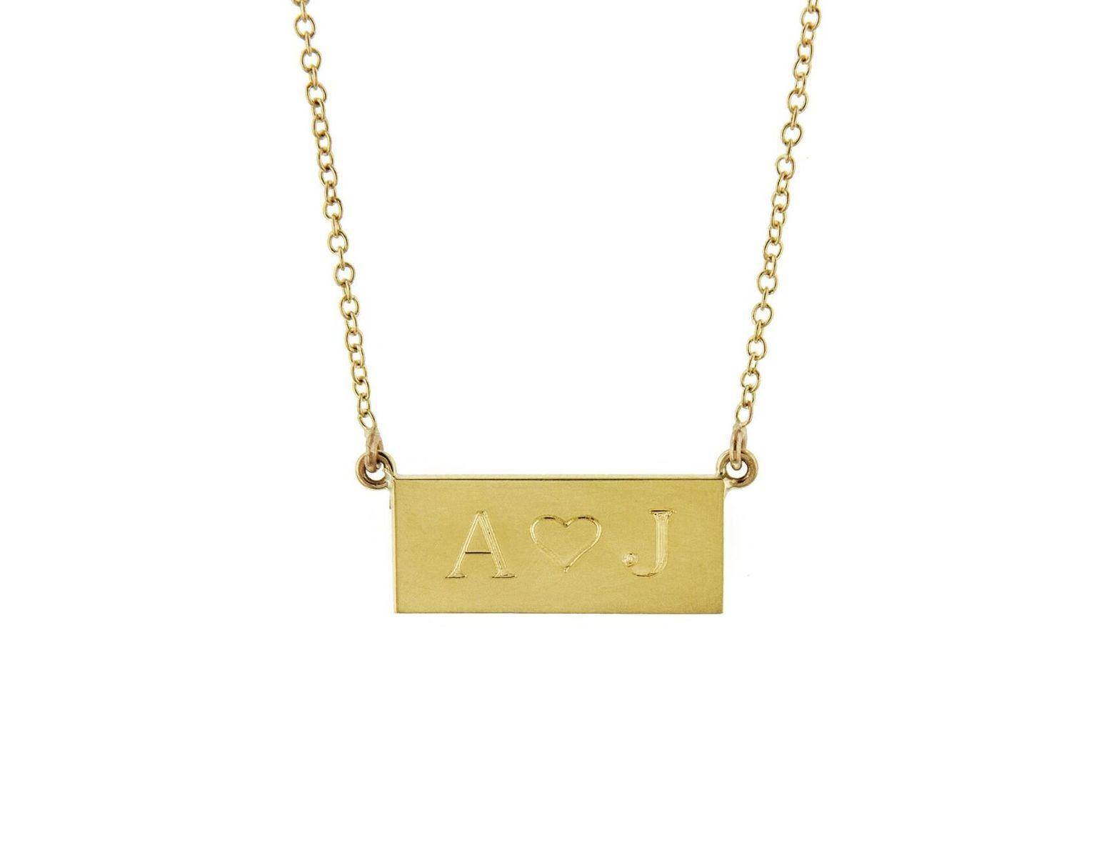 439ac50e16448 Women's Metallic Personalized Mini Nameplate Necklace