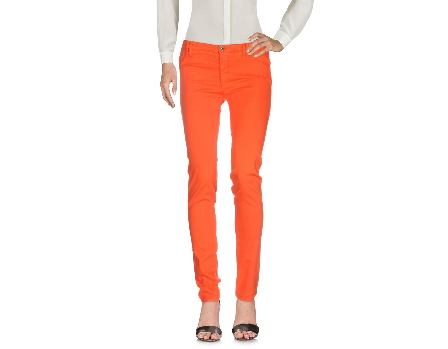 Pantalon Coloris Orange Lyst Jeans En Armani yf6vb7gY