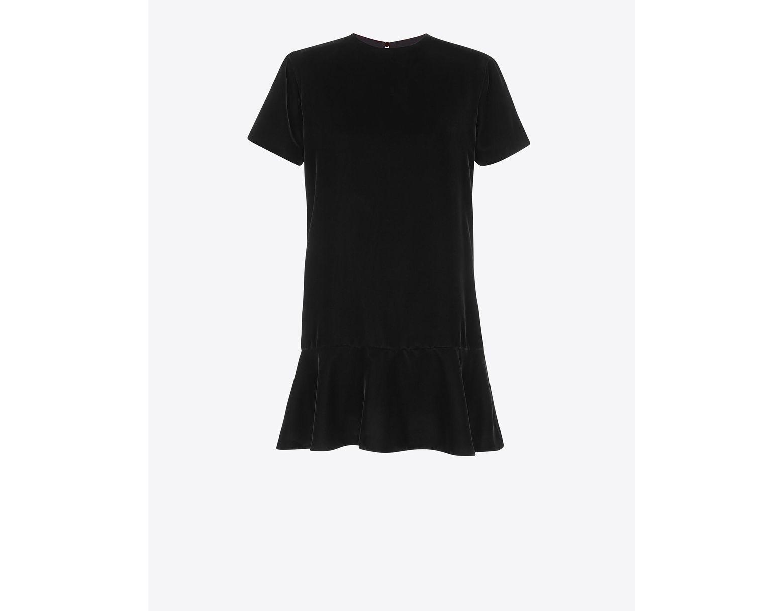 b973ad996f Women's Short Sleeve Mini Dress In Black Sablé