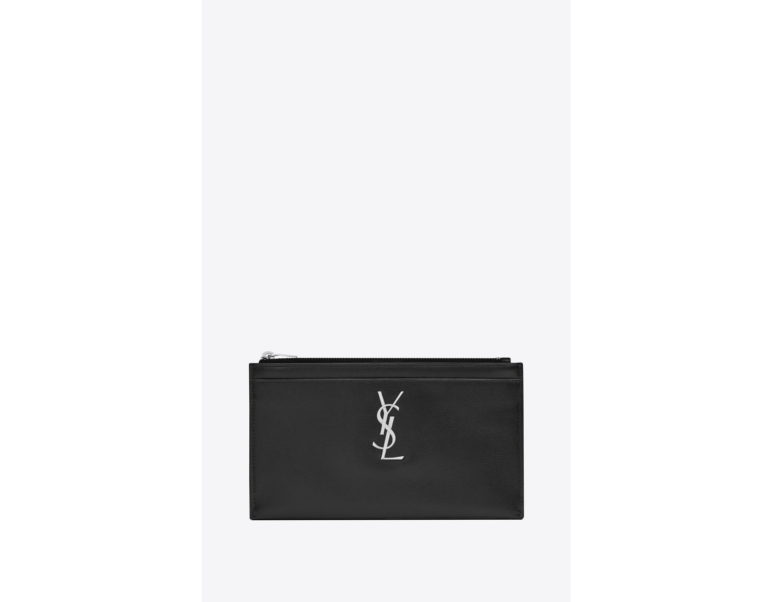 a86e947dc3 Saint Laurent Monogram Bill Pouch In Smooth Leather in Black - Lyst