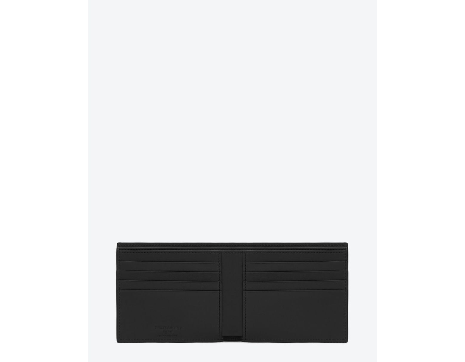 eb809c9795c Saint Laurent East/west Wallet In Smooth Leather in Black for Men - Save  25% - Lyst