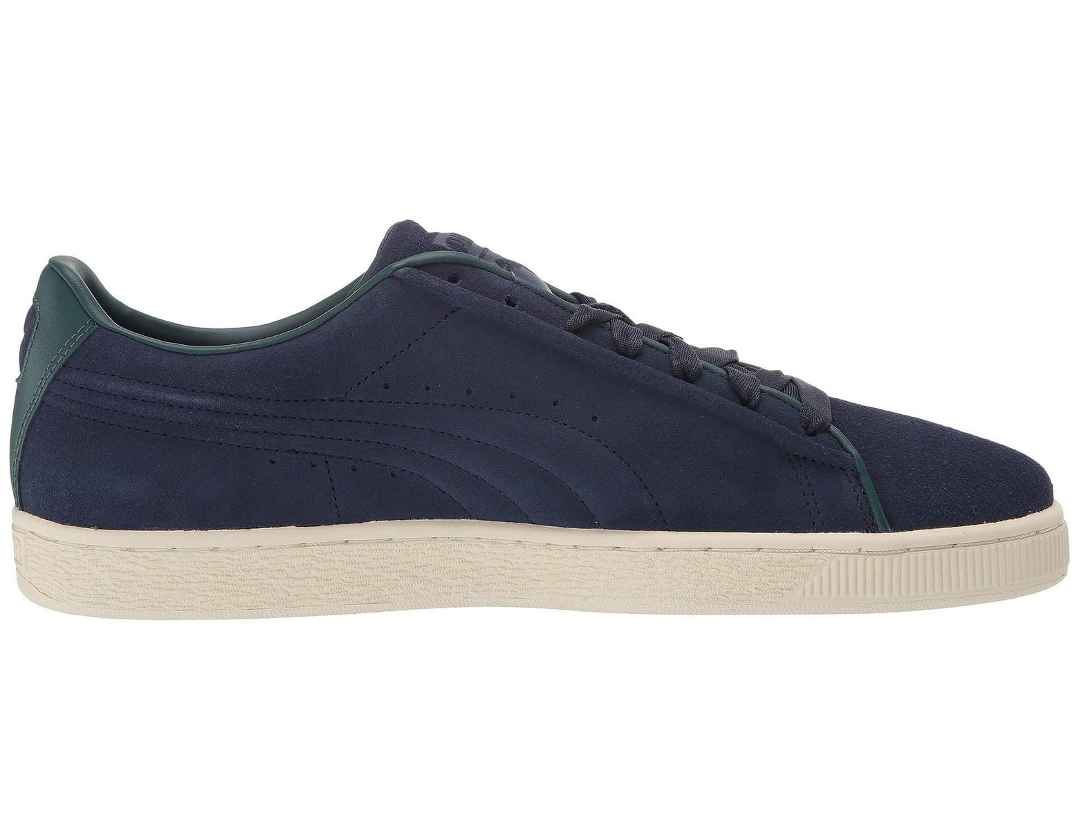 low priced e354d cf8a7 PUMA Suede Classic Raised Formstripe (peacoat ponderosa Pine) Shoes in Blue  for Men - Lyst