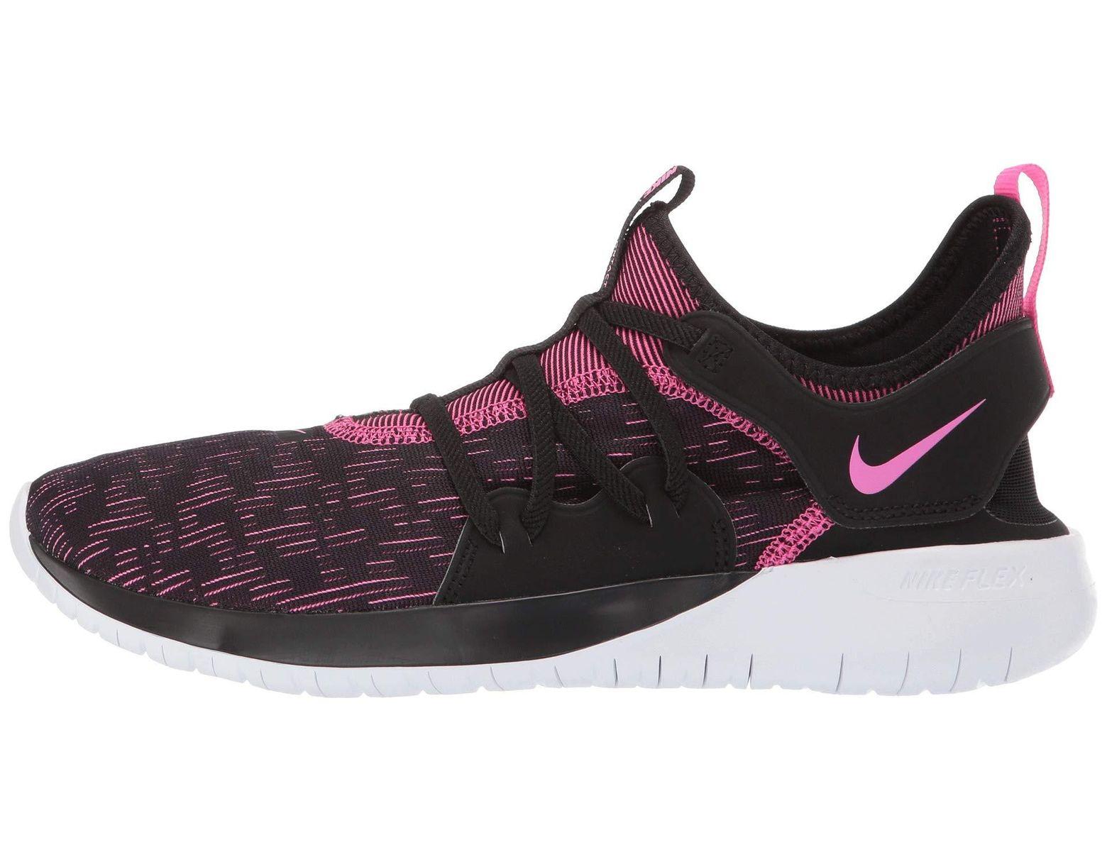 b7aef066c7fe Lyst - Nike Flex Contact 3 (black laser Fuchsia white) Women s Running Shoes  in Black