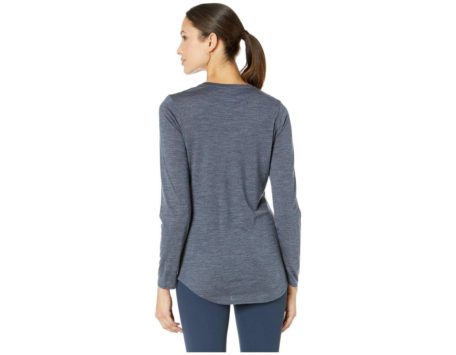 Long Women's Scoop Solace Merino Blue Sleeve kXZiuP