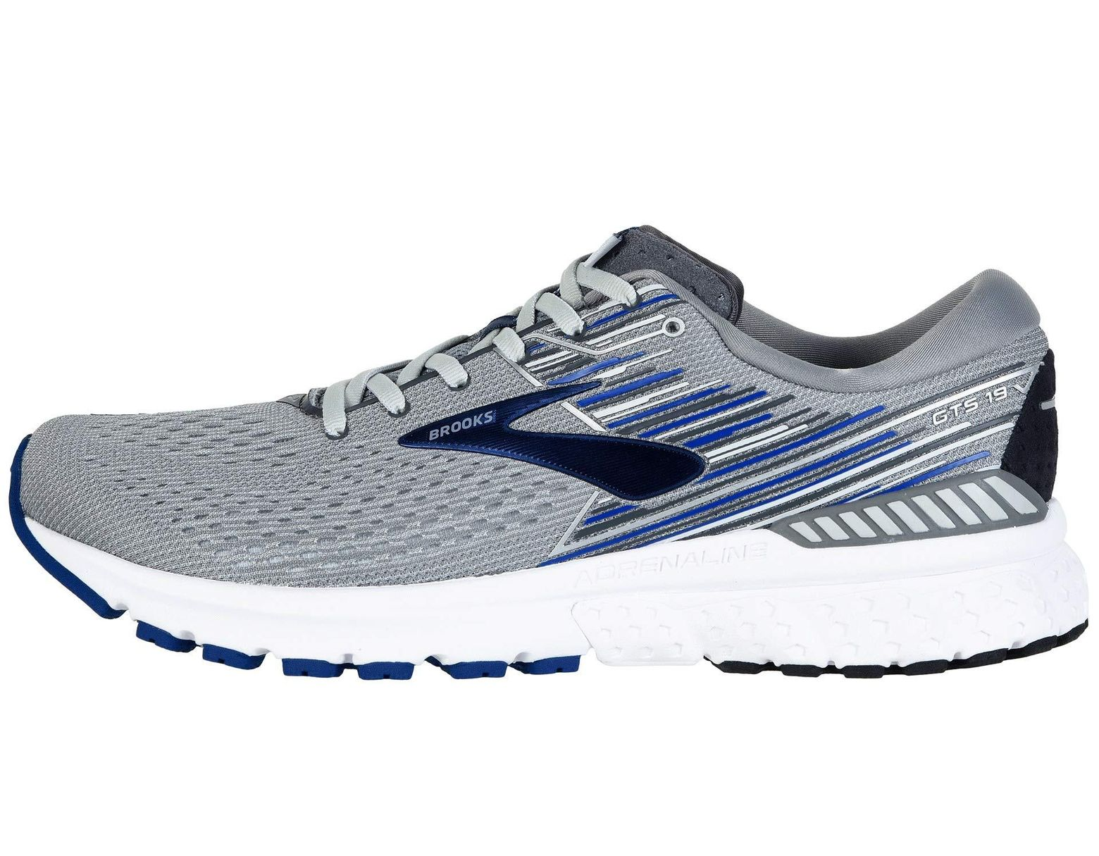 81aa67774e2ee Lyst - Brooks Adrenaline Gts 19 (white grey navy) Men s Running Shoes in  Blue for Men