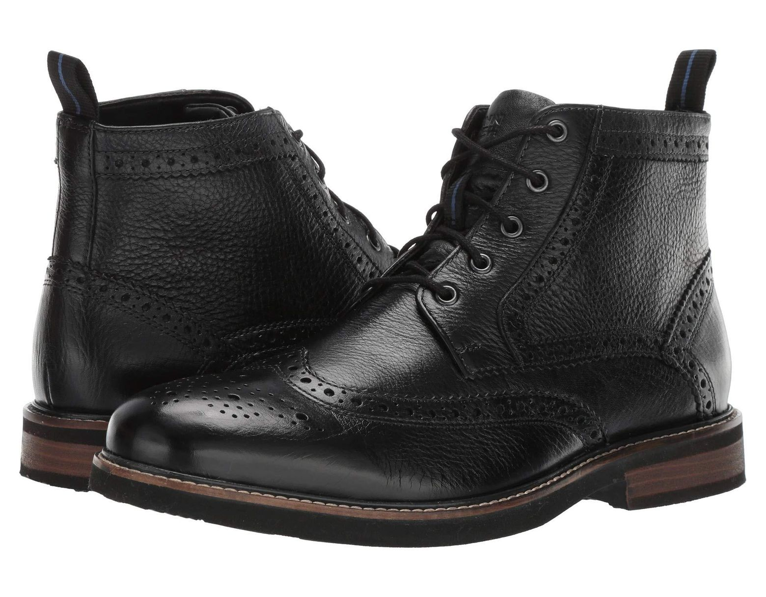 d6f669ca1ae Men's Black Odell Wingtip Boot With Kore Walking Comfort Technology