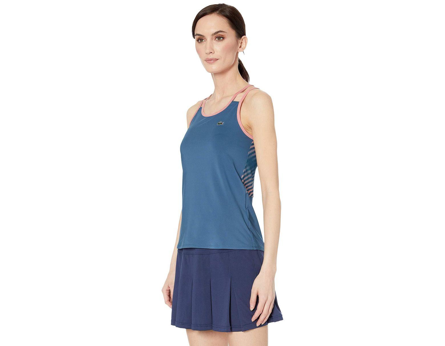 3f23ad6e98 Women's Blue Stretch Technical Jersey Tennis Tank Top