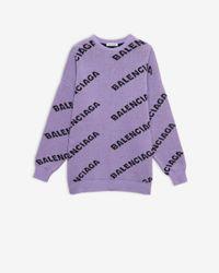 Balenciaga Jersey con cuello redondo «Allover Logo» - Morado