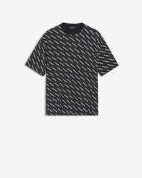 Balenciaga T-shirt noir Allover Logo Lines Regular Fit