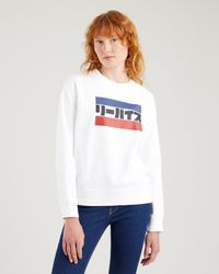 Levi's ® More Than Medals Graphic Standard Crewneck Sweatshirt Womens - White