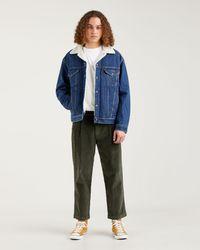 Levi's Pantaloni accorciati a pieghe XX Stay Loose Verde - Blu