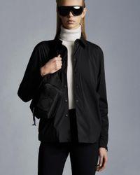 Moncler Camicia In Nylon - Nero