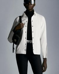 Moncler Camicia In Nylon - Bianco