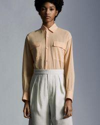 Moncler Camicia In Organza - Rosa