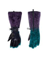 3 MONCLER GRENOBLE Gloves - Blue