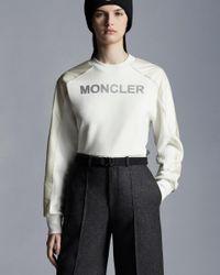 Moncler Cropped Sweatshirt - White
